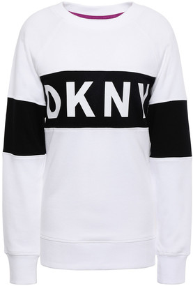 DKNY Printed French Cotton-blend Terry Sweatshirt