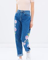 Warehouse Embroidered Jeans