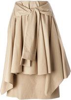 Aalto tie front skirt - women - Cotton/Polyethylene/Acetate - 36