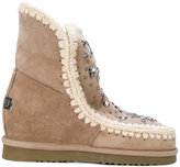 Mou shearling mocassin booties