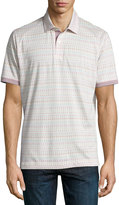 Robert Graham Angola Cotton Polo Shirt, Cream