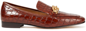 Tory Burch Jessa Croc-effect Leather Loafers
