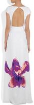 Issa Printed silk-satin gown