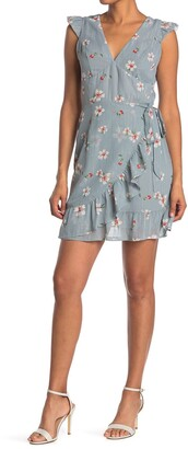 Collective Concepts Floral Ruffle Wrap Dress