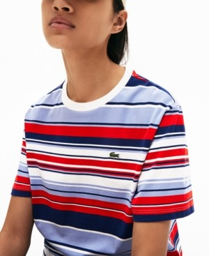 Lacoste Cotton Striped Relaxed T-Shirt