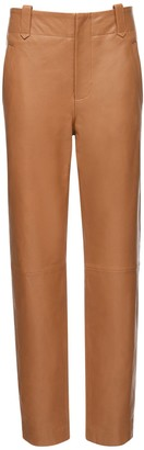 Alberta Ferretti High Waist Leather Pants