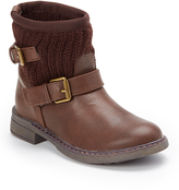 Volatile Brown Buckle-Accent Boot