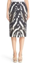 Max Mara Women's Ghetta Print Lace-Up Pencil Skirt