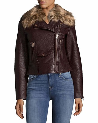 Andrew Marc Women's Beverly Vegan Bubble Leather Jacket