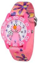 Sesame Street Girls' Pink Plastic Time Teacher Watch - Pink