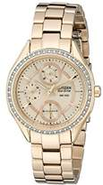 Citizen Women's FD1063-57X 16 mm Eco-Drive Stainless steel Rose Gold Watch Bracelet