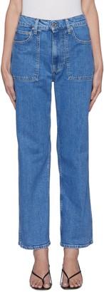 Helmut Lang 'Factory' pocket high waist jeans