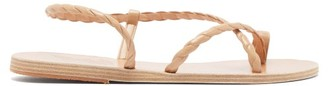 Ancient Greek Sandals Fysi Braided-strap Leather Sandals - Tan