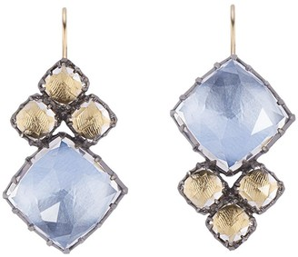 Larkspur & Hawk 14kt gold Sadie Cluster earrings