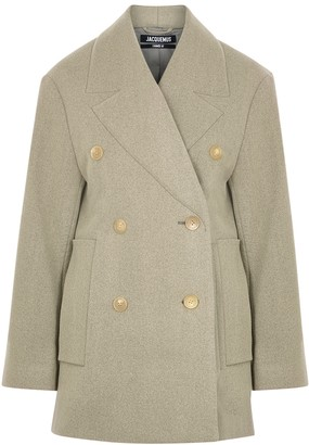 Jacquemus Le Caban Taupe Wool-blend Jacket