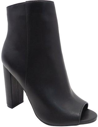 Wild Diva Women's Casual boots BLACK - Black Morris Ankle Boot - Women