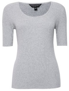 Dorothy Perkins Womens Light Grey Dobby T