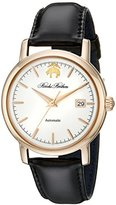 Brooks Brothers Men's SILGA003 Core Collection - Round Analog Display Automatic Self Wind Black Watch