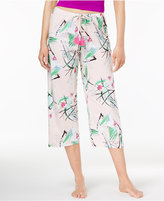 Hue Birds Printed Cotton Capri Pajama Pants