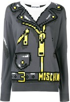 Moschino 8bit print knit sweater