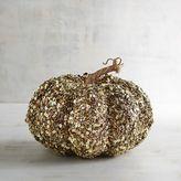Pier 1 Imports Gold Glittered Pumpkin