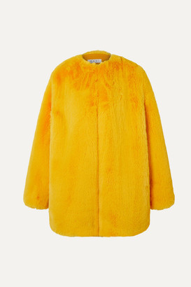 Ochi OCHI - Faux Fur Coat - Yellow