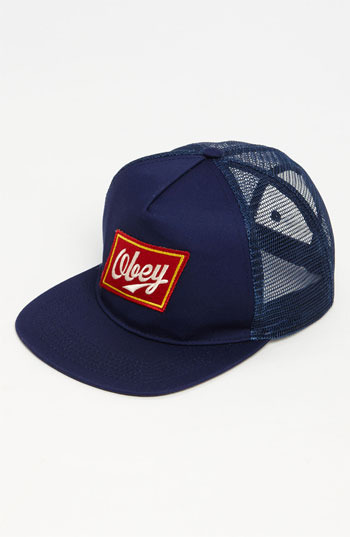Obey Trucker Hat Navy One Size
