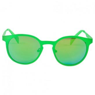 Italia Independent Green Metal Sunglasses