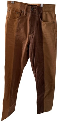 Y/Project Brown Cotton Jeans for Women