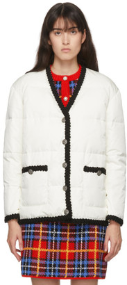 Miu Miu White Puffy Cardigan Jacket