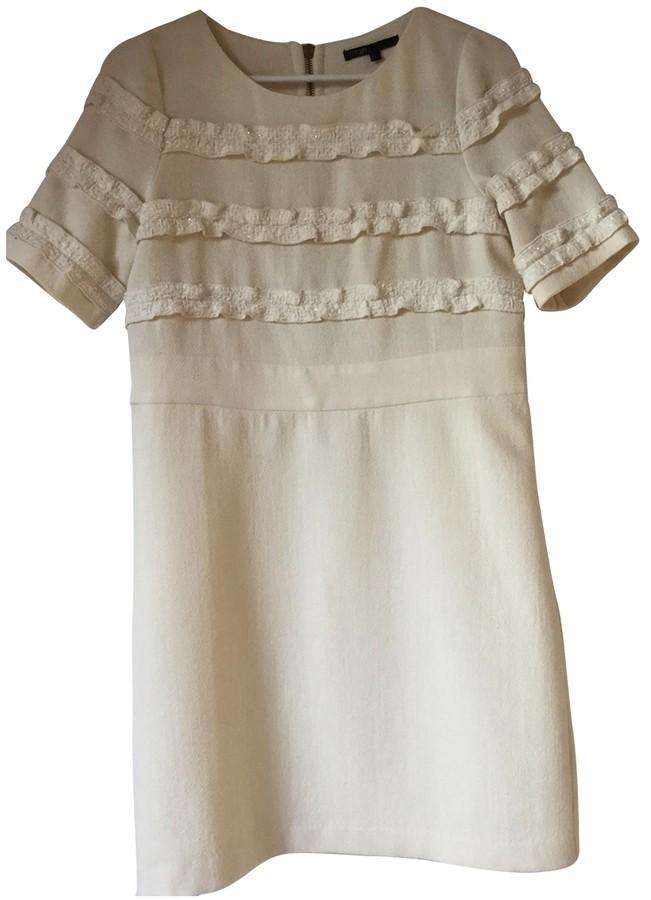 Maje Beige Wool Dresses