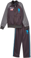 U.S. Polo Assn. Teal Blue Tricot Jacket & Pants - Boys
