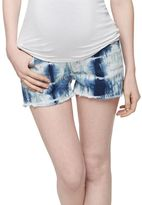 J Brand Secret Fit Belly Tie Dye Maternity Shorts