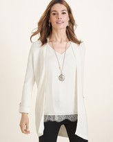 Chico's Chicos Textured Tab-Sleeve Cardigan