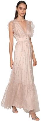 Temperley London Sheer Tulle Long Dress