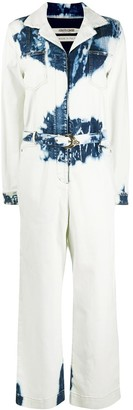 Roberto Cavalli Acid-Wash Jumpsuit