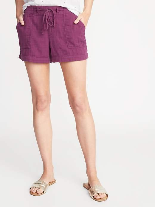 Old Navy Mid-Rise Soft Twill Pull-On Shorts for Women - 4-inch inseam