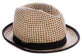 Hache Straw Fedora Hat