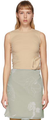 BEIGE Serapis Pocket Tank Top