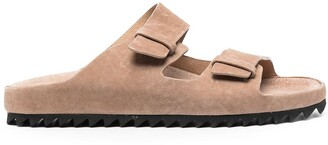 Officine Creative Buckled Suede Sandals