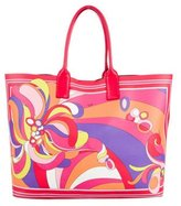 Emilio Pucci Leather-Trimmed Printed Tote w/ Tags