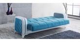 Elite Convertible Sleeper Sofa, Blue/White Brayden Studio