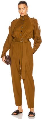 Proenza Schouler Wool Jumpsuit in Fatigue   FWRD