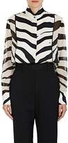 Lanvin Women's Zebra-Striped Silk Blouse