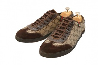 Gucci Brown Cloth Trainers