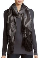 Steve Madden Faux Suede Trim Scarf