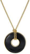 Charter Club Erwin Pearl Atelier for Gold-Tone Circle Pendant Necklace, Only at Macy's