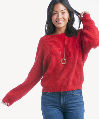 Astr Women's Serena Sweater In Color: Cherry Red Size XS From Sole Society