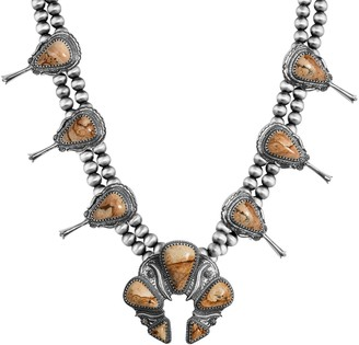American West Couture Sterling Bold Squash Blossom Necklace