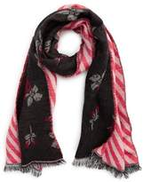 BP Reversible Floral Oblong Scarf
